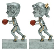 "Basketball ""Rock 'n Bop"" Bobblehead Trophy - Male / Female"