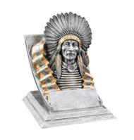 Indian Chief Spirit Mascot Trophy