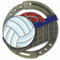 Volleyball M3XL Medal | Engraved Spike & Dig Medallion | 2.75 Inch Wide