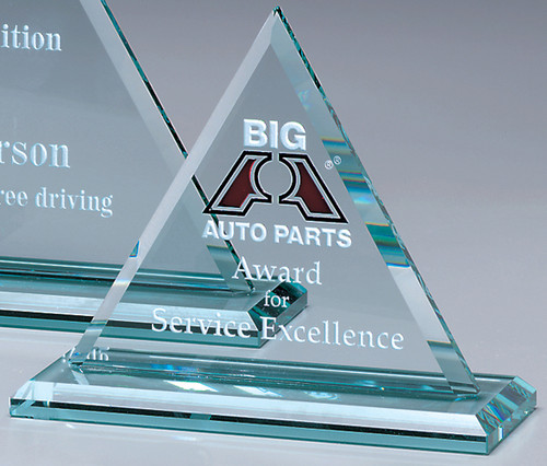 "Princeton Triangle Crystal Award - Small 7"""