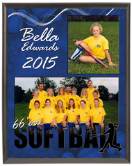 Softball Memory Mate Plaque - Personalized