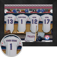 Texas Rangers Locker Room Print - Personalized