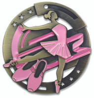 Ballet M3XL Medal | Engraved Recital Medallion | 2.75 Inch Wide