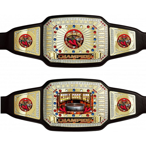 Chili Cook-Off Champion Trophy Belt - Black