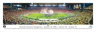 2011 Football National Championship Panorama Print - Unframed
