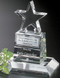 """Star Champion Pedestal Crystal Trophy 