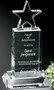 "Star Champion Pedestal Crystal Trophy | Star Corporate Award - 6"", 8.5"" & 10.5"" - Medium 8"""