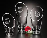 Westcott Vase Crystal Corporate Award / Business Gift - 3 Sizes