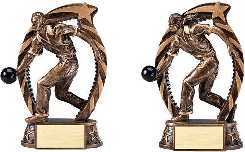 Bowling Running Star Series Resin Trophy - Clearance