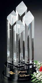 Diamond Tiara Crystal Corporate Award - 3 sizes