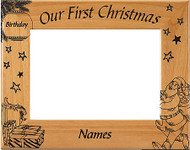 Our First Christmas Picture Frame - Personalized