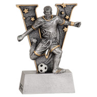 Soccer Action V Series Resin Trophy - Male / Female | Fútbol Award