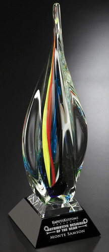 Art Glass Trophy - Majesty | Artistic Corporate Award - 19.75""