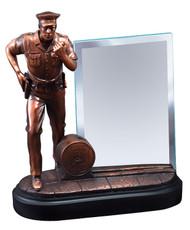 Policeman Heroic Story Glass Award