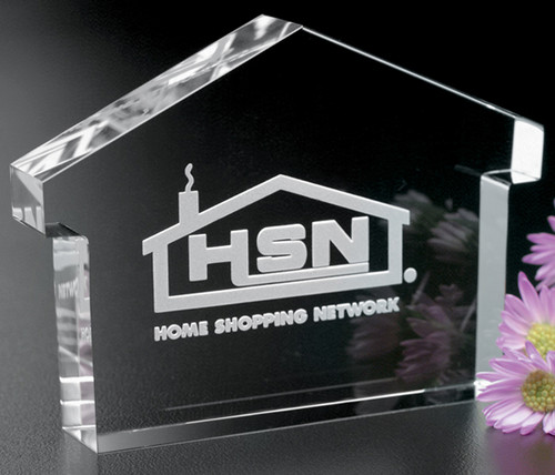 Crystal House Paperweight / Corporate Award