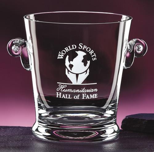 "Celebration Crystal Ice Bucket Corporate Award / Business Gift - 7"" - Engraved"