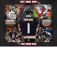 Chicago Bears Action Collage Print - Personalized