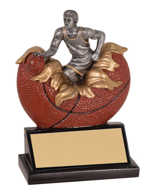 """Basketball Xploding Action Trophy -5.25"""" - Clearance"""