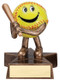 Softball Lil' Buddy Trophy   Engraved Smiling Softball Award - 4 Inch Tall