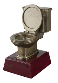 Gold Toilet Bowl Trophy | Golden Throne Last Place Award - 6 Inch Tall