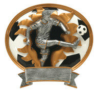 Soccer Sports Blaster Trophy - Male / Male Fútbol Award | 7 Inch - Clearance
