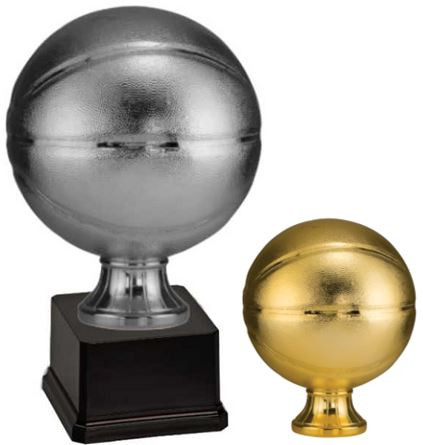 Basketball Full Size Resin Trophy - Gold or Silver