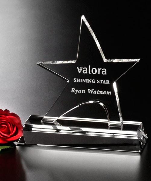 "Star Prestige Crystal Corporate Award - 6"", 7.5"" & 8.5"""