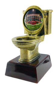 Fantasy Football Gold Toilet Bowl Trophy | Engraved FFL Golden Throne Last Place Award - 6 Inch Tall