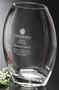 "Clear Oval Vase Crystal Award - Small 8.5"""