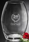 "Clear Oval Vase Crystal Award - Large 12"""