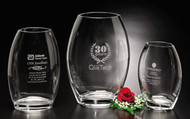 Clear Oval Vase Crystal Award - 3 sizes