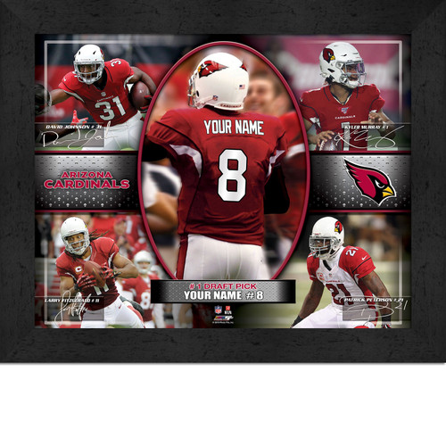 Arizona Cardinals Action Collage Print - Personalized