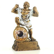 Bowling Monster Trophy | Engraved Bowler Beast Award - 6.75 Inch Tall