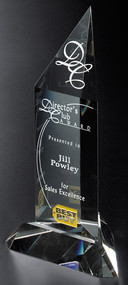 Churchill Peak Crystal Corporate Award - Small  6""