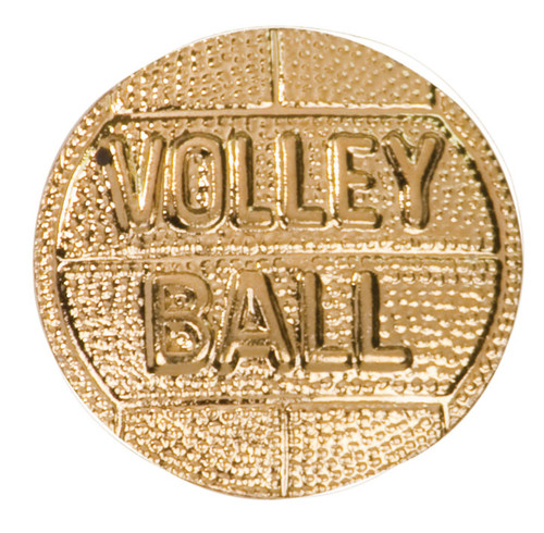 Volleyball Lapel Pin | Letter Jacket Chenille Pin - CHEN167