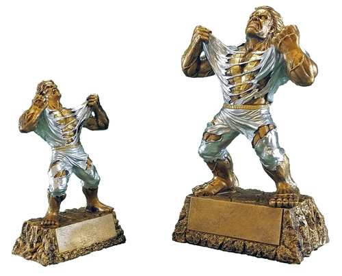"""Victory Monster Trophy   Engraved Triumphant Beast Award - 6.75"""" or 9.5"""""""