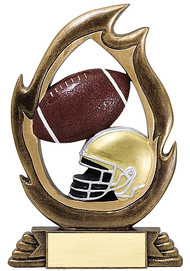 Football Flame Series Trophy | Football Award - 7.25""