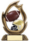 Football Flame Series Trophy | Engraved Football Award - 7.25 Inch Tall (RFL06B) (view)