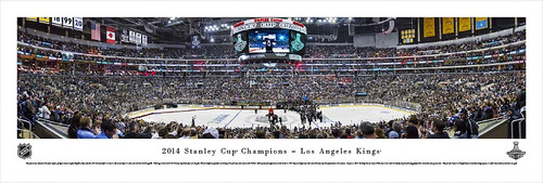 2014 Stanley Cup Championship Panorama Print - Unframed