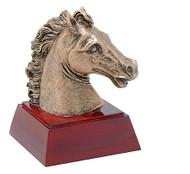 Mustang Mascot Sculptured Trophy | Engraved Wild Horse Award - 4 Inch Tall