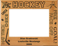 Hockey Male Picture Frame 1 - Personalized