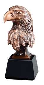Eagle Head Bronze Award / Engraved Bronzed Eagle Head Trophy - 8, 9 & 10 Inch Tall