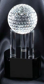 "Golf Ball Crystal Trophy - 7.75"" - Clearance"