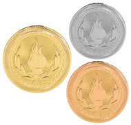 Victory BriteLazer Medal - Gold, Silver & Bronze | Flame of Victory Award | 2 Inch Wide