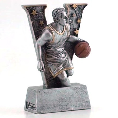 """Basketball """"Action"""" V Series Resin Trophy - Male 