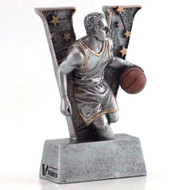 "Basketball ""Action"" V Series Resin Trophy - Male 