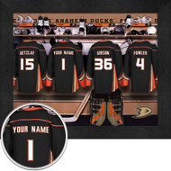 Anaheim Ducks Locker Room Print - Personalized