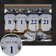 Milwaukee Brewers Locker Room Print - Personalized