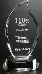 Flame Crystal Corporate Award - Small 7""