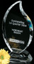 Flame Crystal Corporate Award - Medium 9""